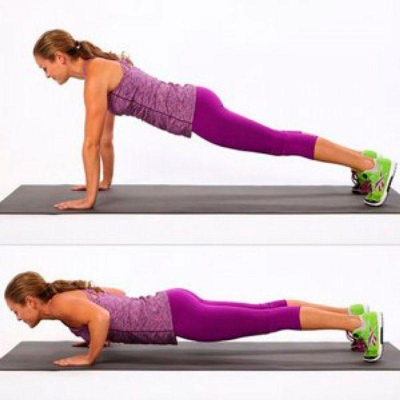 Отжимания от пола для накачки мышц
