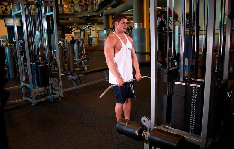 Тяга верхнего блока к груди – техника выполнения и задействованные мышцы