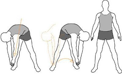 Упражнение отвода рук в стороны