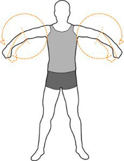 Упражнение круговых движений предплечьями