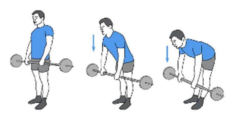 Техника становой тяги на прямых ногах