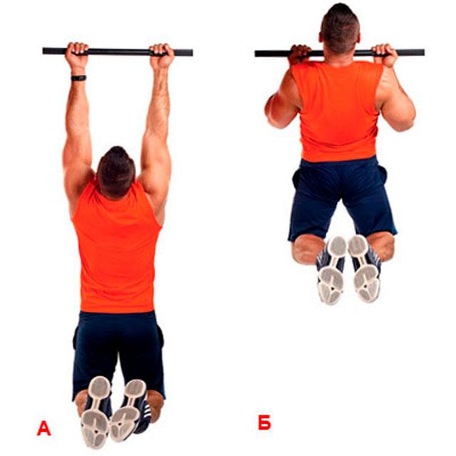 Подтягивания широким обратным хватом – техника выполнения упражнения